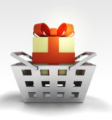 Your gift surprise advantage of trade merchandise — Stock Photo