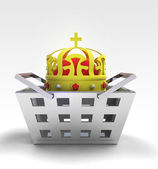 Real king of business and trade merchandise — Стоковое фото