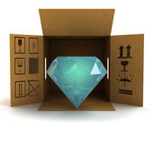 Luxurious diamond product safety delivery — Stock Photo