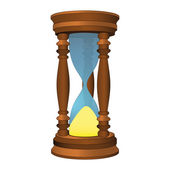 Isolated wooden sandglass time passed vector — Stock Vector
