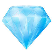 Isolated large blue diamond vector — Vettoriale Stock