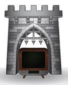 ворота перевал развлечения с вектором телевидения — Cтоковый вектор