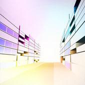 Vecteur de développement pour le projet rue ville moderne colorée — Vecteur