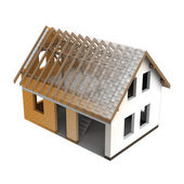 Roofing construction house design blend transition — Stock Photo