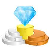 Winner podium for greatest diamond vector — Stock Vector