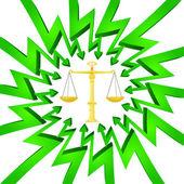 зеленый круг стрелки направлены веса вектора свободы — Cтоковый вектор