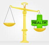 Weight measure of healthy life vector — Stock Vector