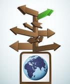 Signpost navigation to exploring africa vector — Stock Vector