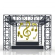 Isolated show stage with music sounds — Stock Photo