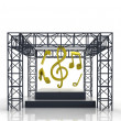 Stock Photo: Isolated show stage with music sounds