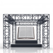 Isolated show stage with education book — Stock Photo