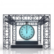 Isolated show stage with shiny blue stopwatch — Stock Photo