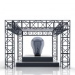 Isolated show stage with blue bulb — Stock Photo