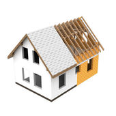 Isolated house structural design section transition — Stock Photo