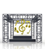 Isolated show stage with music sounds — Stok fotoğraf