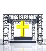 Voir isolé de la scène avec la croix dorée — Photo