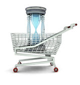 Limited time to shopping concept isolated — Stock Photo