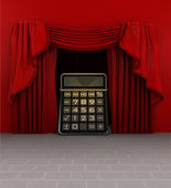 Calculation introduction before show starts — Stock Photo