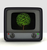 Broadcasting nature series television advertisement — Stock Photo