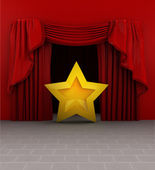Actor star introduction before show starts — Stock Photo