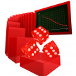 Stock Vector: Negative business results in betting market vector