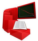 Decreasing graph of education level vector — Stock Vector