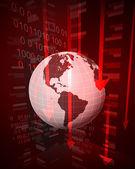 Negative decreasing statistics in American countries vector — Stock Vector