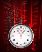 Negative decreasing statistics results in time vector — Stok Vektör