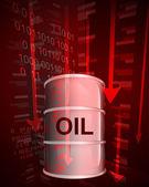 Negative value decrease of oil goods vector — Stock Vector