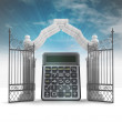 Business results blessing in heavenly gate with sky flare — Stock Photo #33603923