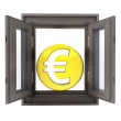 Foto Stock: Isolated opened window to financial europebusiness