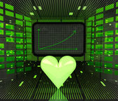 Lovely business positive graph forecast or results — Stock Photo