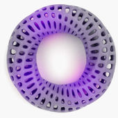 Plastic violet and perforated bracelet shape product design concept — 图库照片