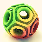 Red yellow green abstract three dimensional structure — Stock Photo
