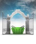 空のフレアと天のゲートで神聖なショッピング ムード — ストック写真
