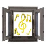 Isolerade öppnade fönstret för nya häftiga musik — Stockfoto