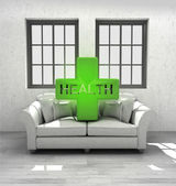 Keep your health in comfortable modern interior home design render — Stockfoto