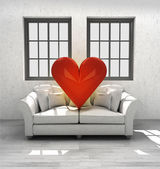 Loving couch in your modern home interior design — Stock Photo