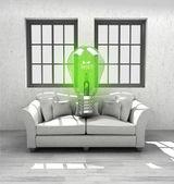 Ecological ideas for your comfortable modern interior home design — Stock Photo