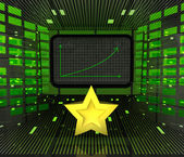 Top star rated business positive graph forecast or results — Stock Photo