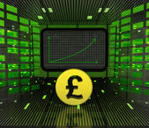 Business positive graph forecast or results of british currency — Stock Photo