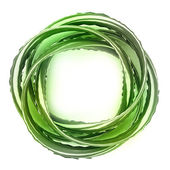 Metallic green twist shaped jewelry product design concept — Stock Photo