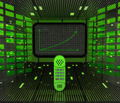 Business positive graph forecast or results in telecommunications — Stock Photo