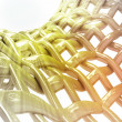 Abstract bended yellow golden chain three dimensional structure background — Stock Photo #35936971