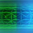 Divided green blue blurred futuristic shape three dimensional background — Stock Photo