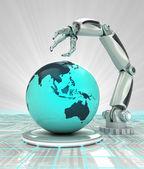 Roboterhand Erstellung futuristisch Industrie in asiatischen Ländern zu rendern — Stockfoto