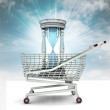 Limited time to shopping concept with sky — Stock Photo #37838945