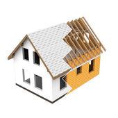 Aislados nueva casa construcción diseño en zig-zag transición — Foto de Stock