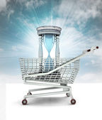 Limited time to shopping concept with sky — Stock Photo