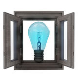 Isolated window opened way to new ideas — Stock Photo